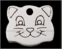 Cat Face ID Tag